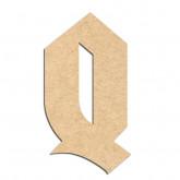Lettre en bois à décorer Q- Alphabet Hombre