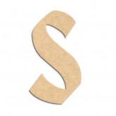Lettre en bois à décorer S- Alphabet Hombre