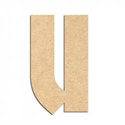 Lettre en bois à décorer U- Alphabet Hombre