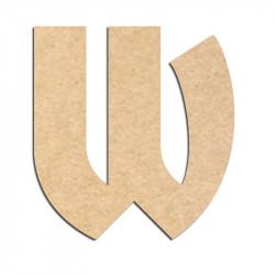 Lettre en bois à décorer W- Alphabet Hombre