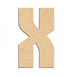Lettre en bois à décorer X- Alphabet Hombre