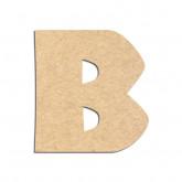 Lettre en bois à décorer B - Alphabet Jungle Fever