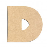 Lettre en bois à décorer D - Alphabet Jungle Fever