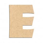 Lettre en bois à décorer E - Alphabet Jungle Fever