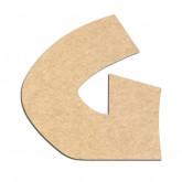 Lettre en bois à décorer G - Alphabet Jungle Fever