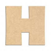 Lettre en bois à décorer H - Alphabet Jungle Fever