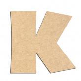 Lettre en bois à décorer K - Alphabet Jungle Fever