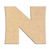 Lettre en bois à décorer N - Alphabet Jungle Fever