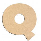 Lettre en bois à décorer Q - Alphabet Jungle Fever