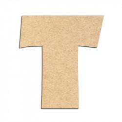 Lettre en bois à décorer T - Alphabet Jungle Fever