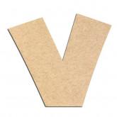 Lettre en bois à décorer V - Alphabet Jungle Fever