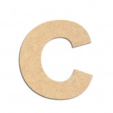 Lettre en bois à décorer C - Alphabet KG The Last Time