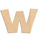 Lettre en bois à décorer W - Alphabet KG The Last Time