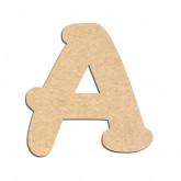 Lettre en bois à décorer A- Alphabet Merkin
