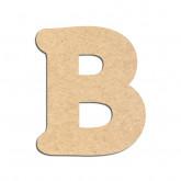 Lettre en bois à décorer B - Alphabet Merkin