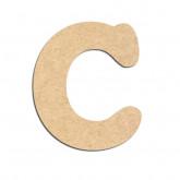 Lettre en bois à décorer C - Alphabet Merkin
