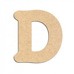 Lettre en bois à décorer D - Alphabet Merkin