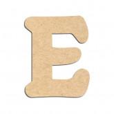 Lettre en bois à décorer E - Alphabet Merkin