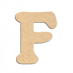 Lettre en bois à décorer F - Alphabet Merkin