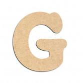 Lettre en bois à décorer G - Alphabet Merkin