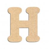 Lettre en bois à décorer H - Alphabet Merkin
