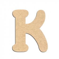 Lettre en bois à décorer K - Alphabet Merkin