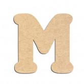 Lettre en bois à décorer M - Alphabet Merkin