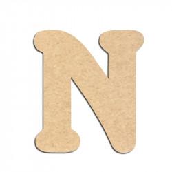 Lettre en bois à décorer N - Alphabet Merkin