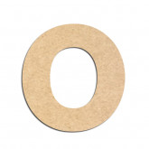 Lettre en bois à décorer O - Alphabet Merkin