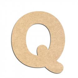 Lettre en bois à décorer Q - Alphabet Merkin