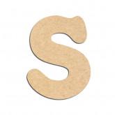 Lettre en bois à décorer S - Alphabet Merkin