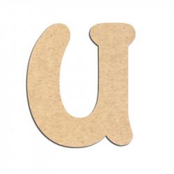 Lettre en bois à décorer U - Alphabet Merkin