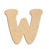 Lettre en bois à décorer W - Alphabet Merkin