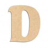 Lettre en bois à décorer D - Alphabet Seabird