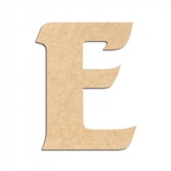 Lettre en bois à décorer E - Alphabet Seabird