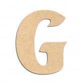 Lettre en bois à décorer G - Alphabet Seabird
