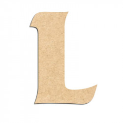 Lettre en bois à décorer L - Alphabet Seabird