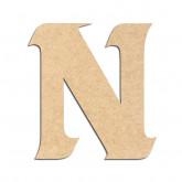 Lettre en bois à décorer N - Alphabet Seabird