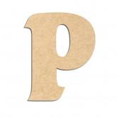 Lettre en bois à décorer P - Alphabet Seabird