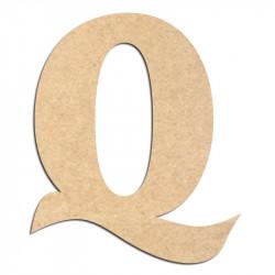 Lettre en bois à décorer Q - Alphabet Seabird