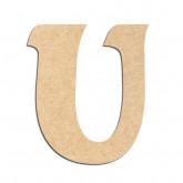 Lettre en bois à décorer U - Alphabet Seabird