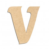 Lettre en bois à décorer V - Alphabet Seabird