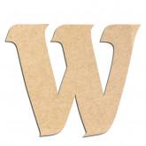 Lettre en bois à décorer W - Alphabet Seabird