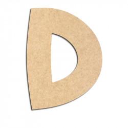 Lettre en bois à décorer D - Alphabet Treasure