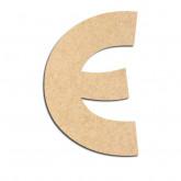 Lettre en bois à décorer E - Alphabet Treasure