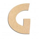 Lettre en bois à décorer G - Alphabet Treasure