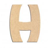 Lettre en bois à décorer H - Alphabet Treasure