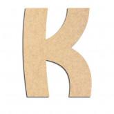 Lettre en bois à décorer K - Alphabet Treasure