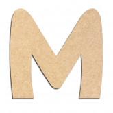Lettre en bois à décorer M - Alphabet Treasure