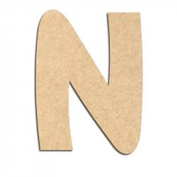 Lettre en bois à décorer N - Alphabet Treasure